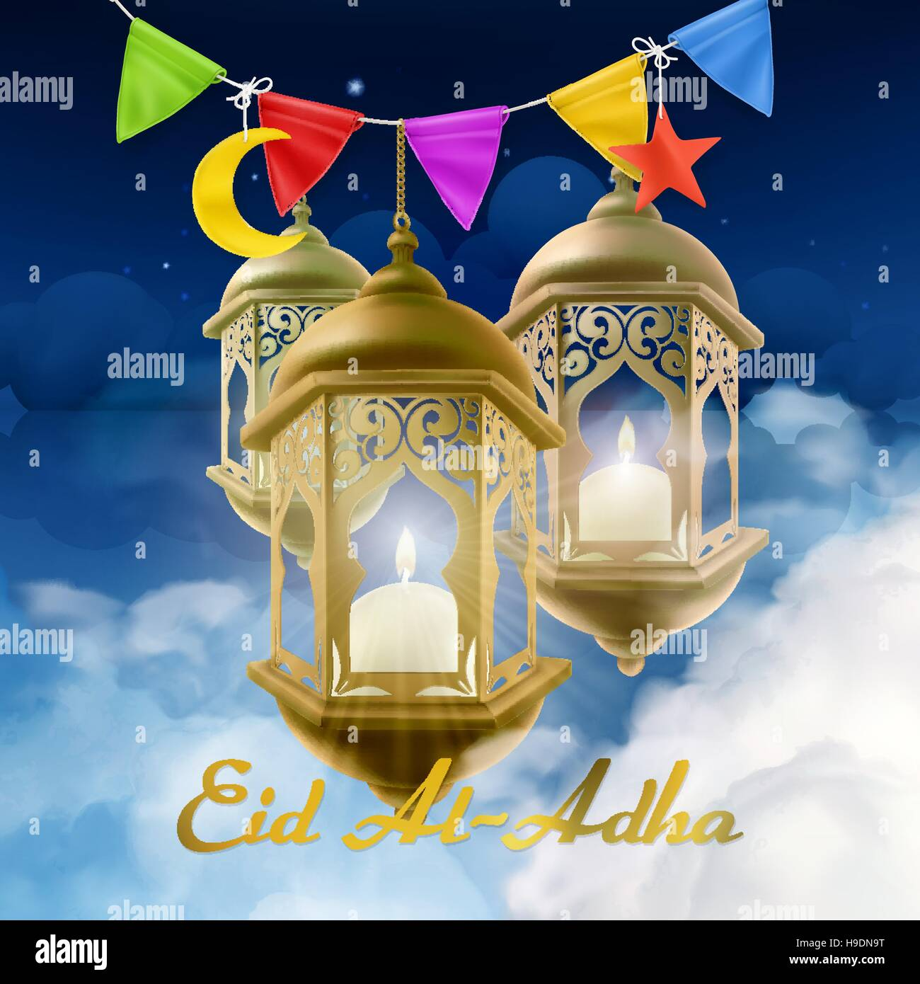 Muslim holiday eid al adha islamic culture greeting card with lamp muslim holiday eid al adha islamic culture greeting card with lamp vector background m4hsunfo