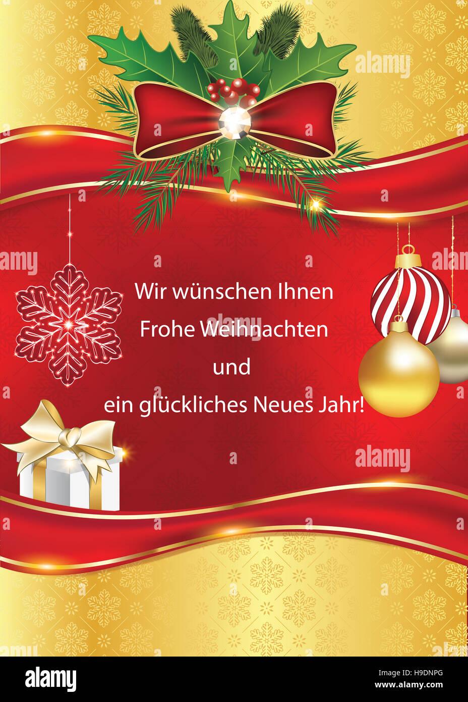 Geschäftliche Weihnachtsgrüße. Wir wünschen Ihnen Frohe Weihnachten ...
