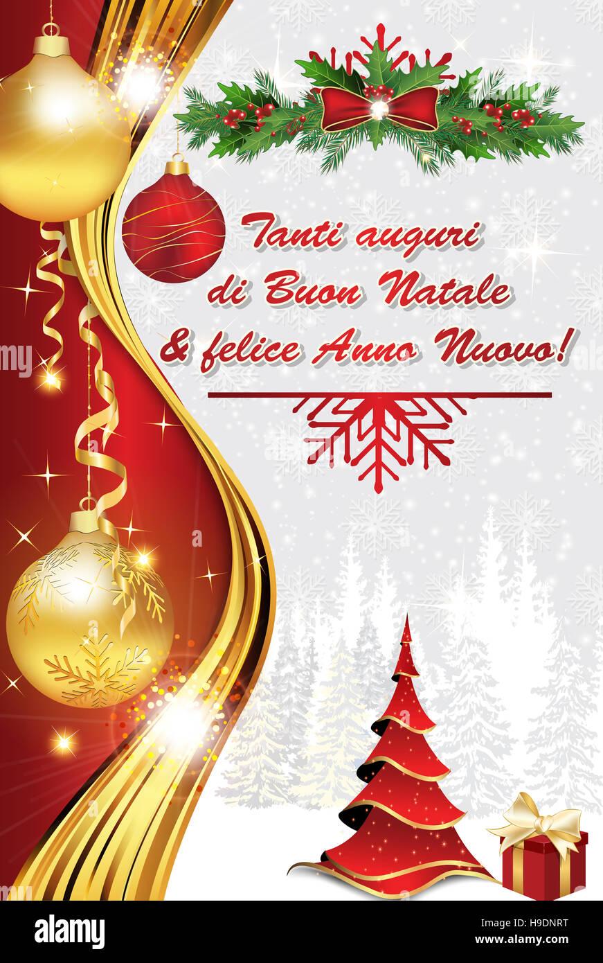 Tanti Auguri Di Natale.Tanti Auguri Di Buon Natale Felice Anno Nuovo Biglietto Stock Photo Alamy
