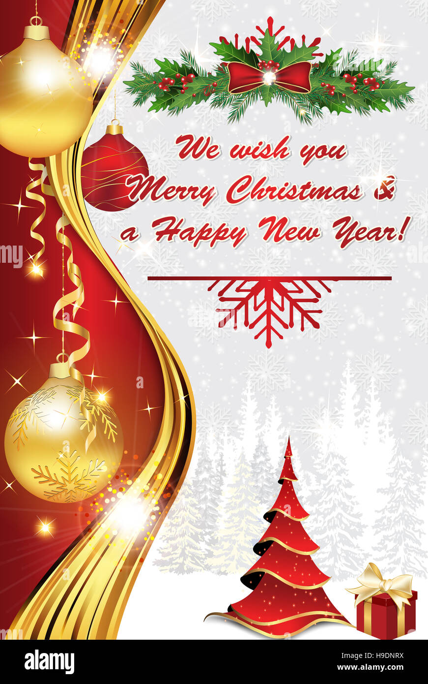 Winter holiday greeting card for print we wish you merry christmas winter holiday greeting card for print we wish you merry christmas and a happy new year print colors used m4hsunfo