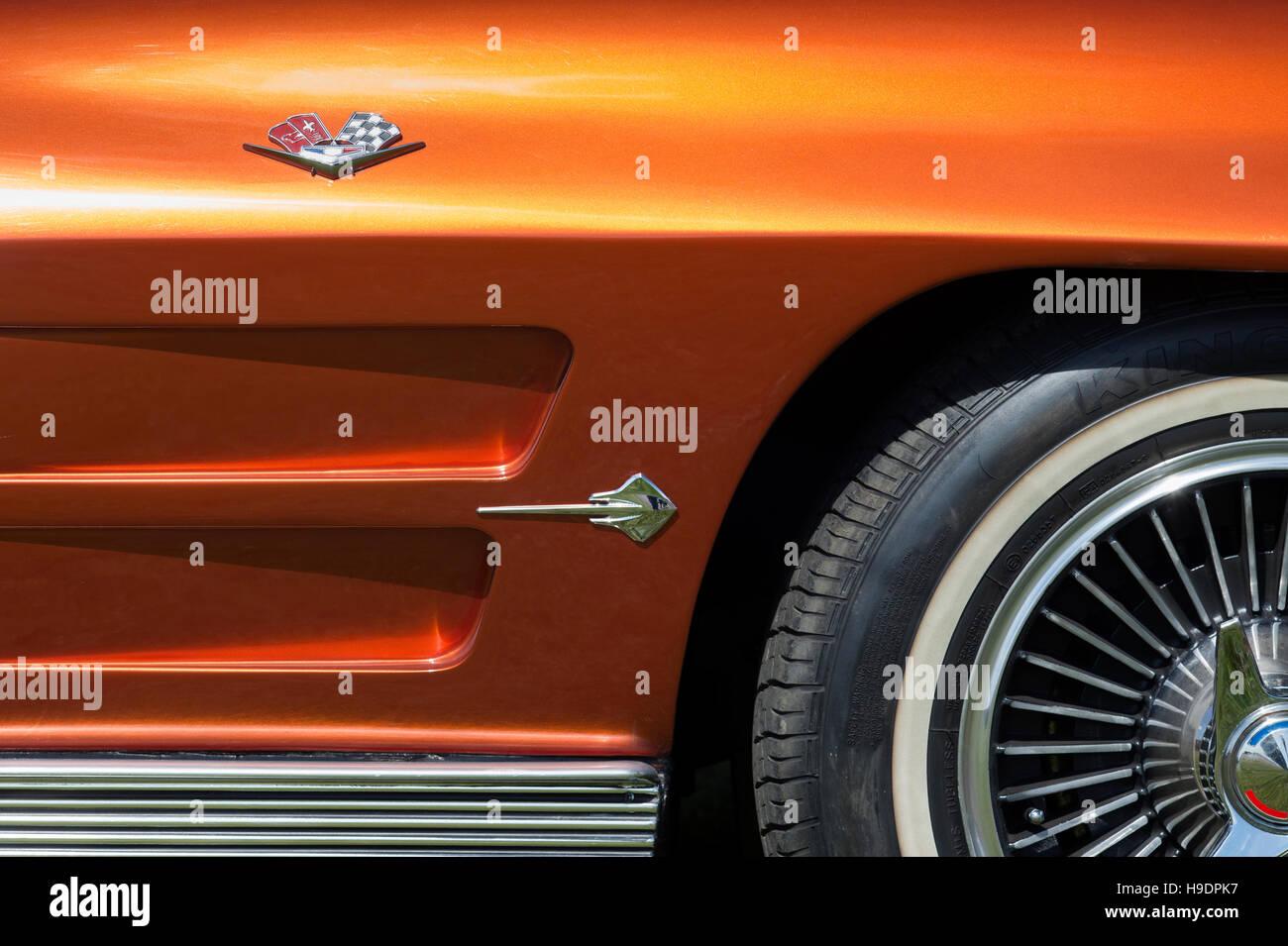 Chevrolet Corvette Stingray Classic American Sports Car Absrtract H Dpk