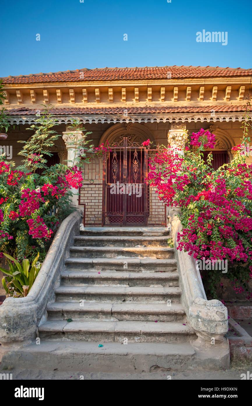 Devpur Homestay, a century old palace converted into a guest house in the small village of Devpur in the Kutch region - Stock Image