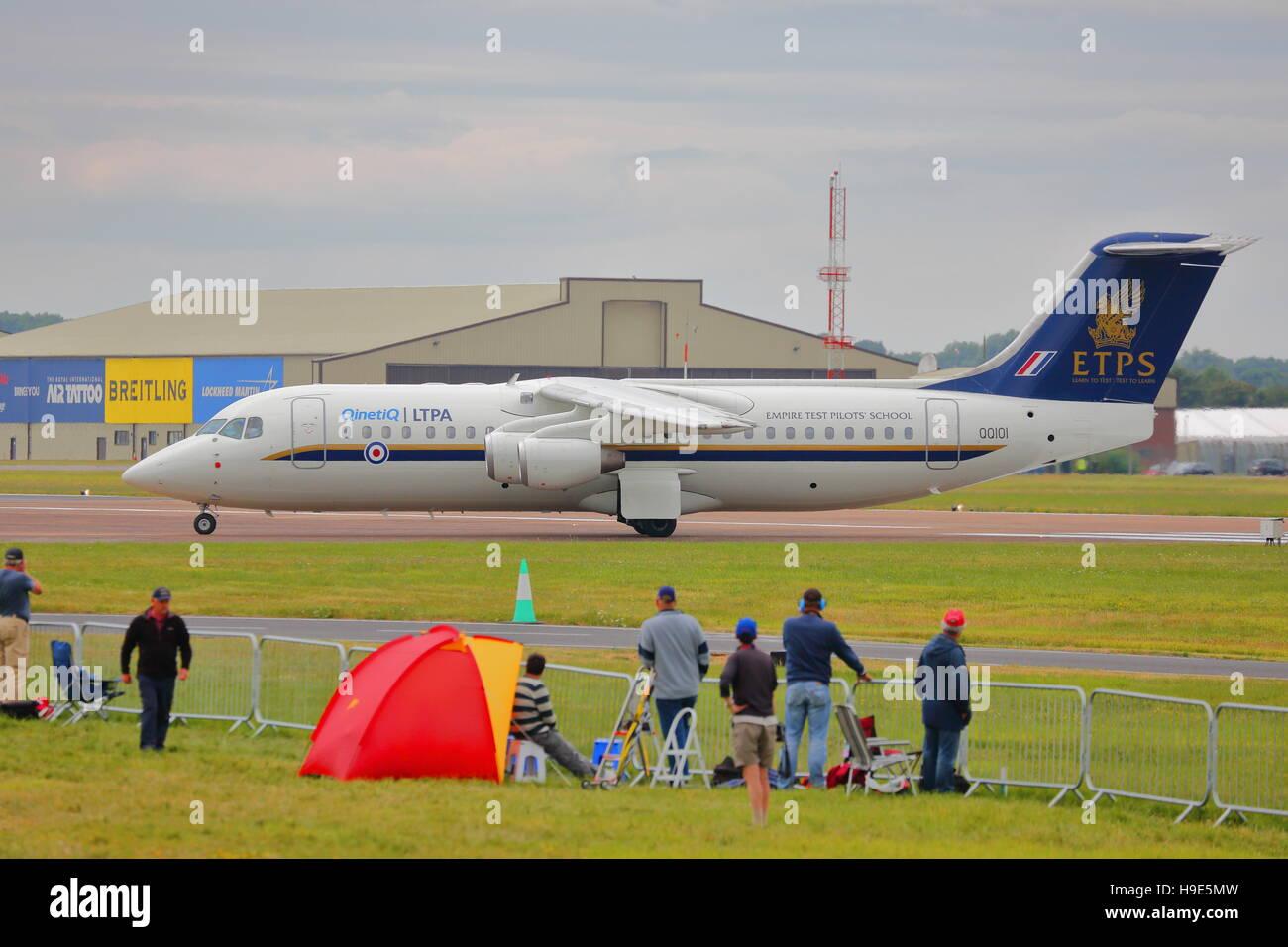 ETPS Avro RJ at RIAT Fairford 2014 Air Show - Stock Image