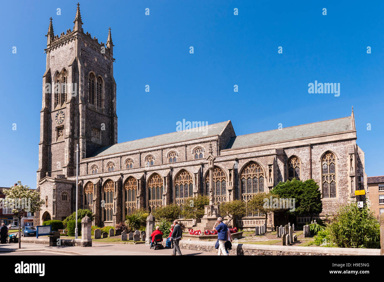The Church of St. Peter and St. Paul in Cromer , Norfolk , England , Britain , Uk - Stock Image