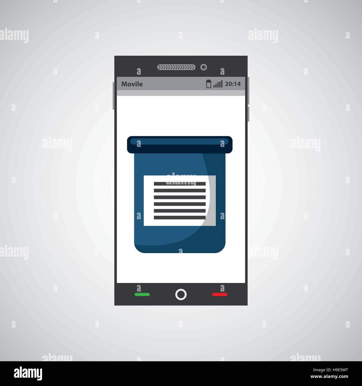 medical service digital technology vector illustration eps 10 Stock Vector