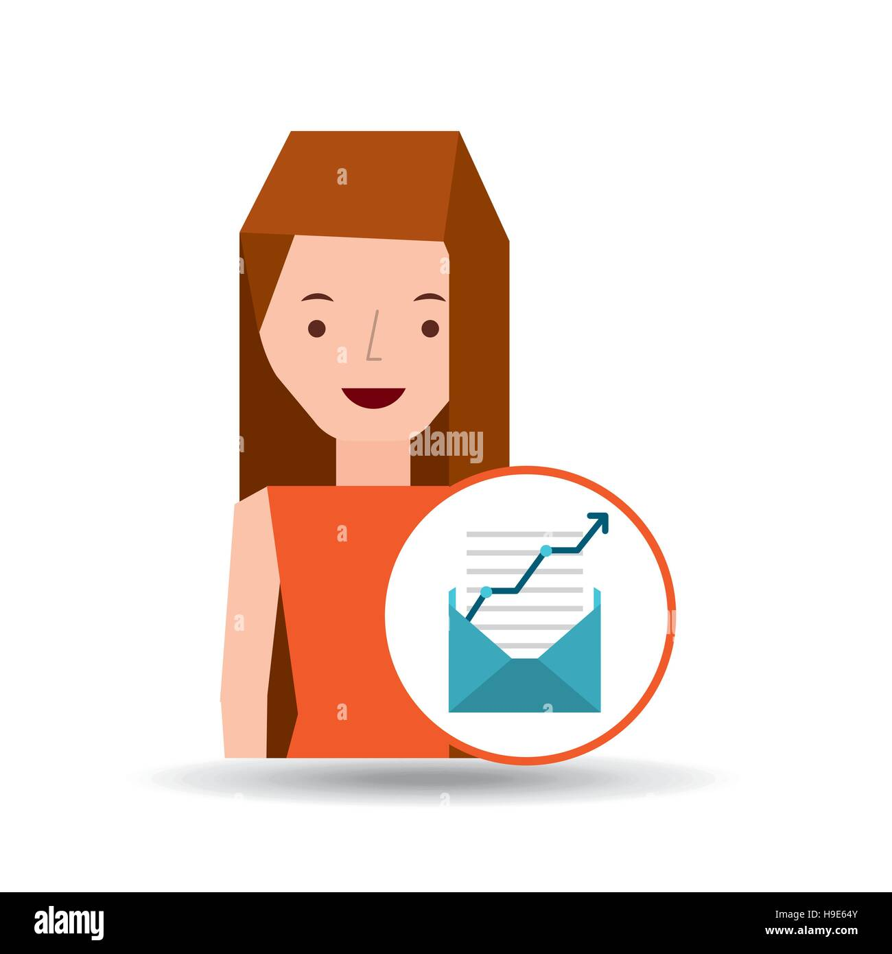 Girl Writing Letter Cartoon Cut Out Stock Images Pictures Alamy