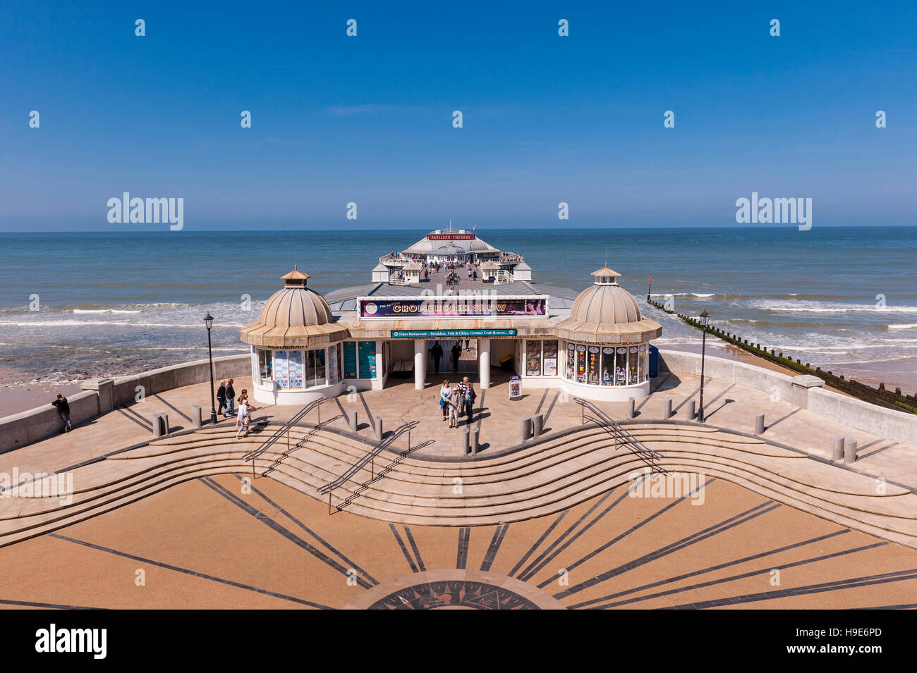 The Pier and beach in Cromer , Norfolk , England , Britain , Uk - Stock Image