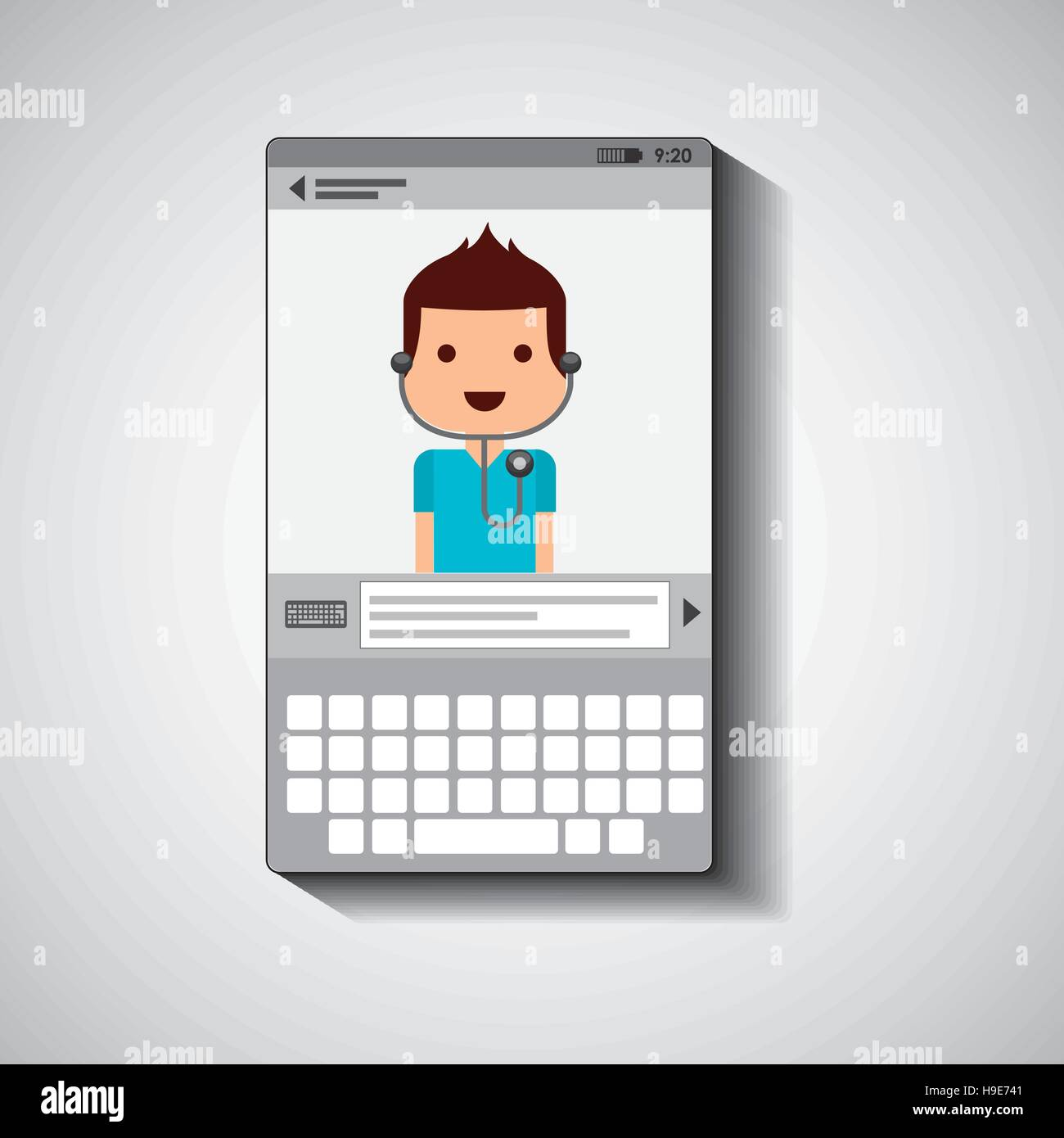 mobile device health care doctor vector illustration eps 10 Stock Vector