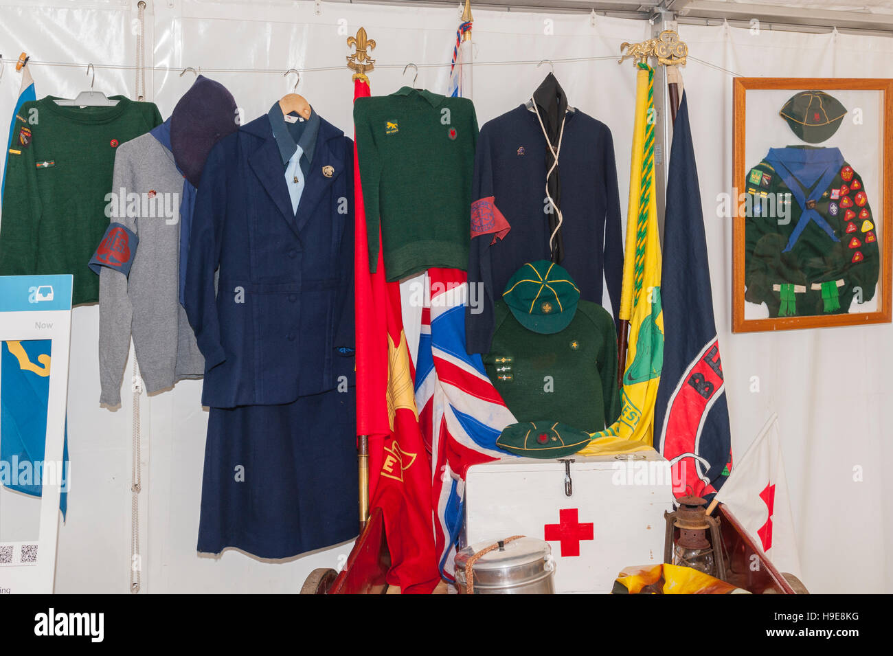 Cub Scout uniforms on show at the Royal Norfolk Show in the Showground , Norwich , Norfolk , England , Britain , - Stock Image
