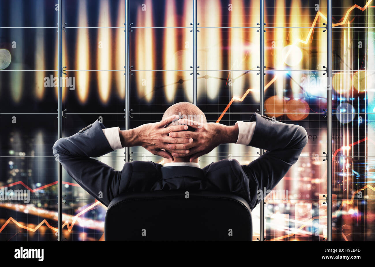 Virtual screen business system - Stock Image