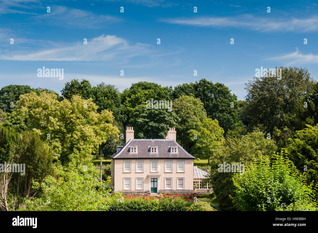 A pretty country house in Fressingfield , Suffolk , England , Britain , Uk - Stock Image