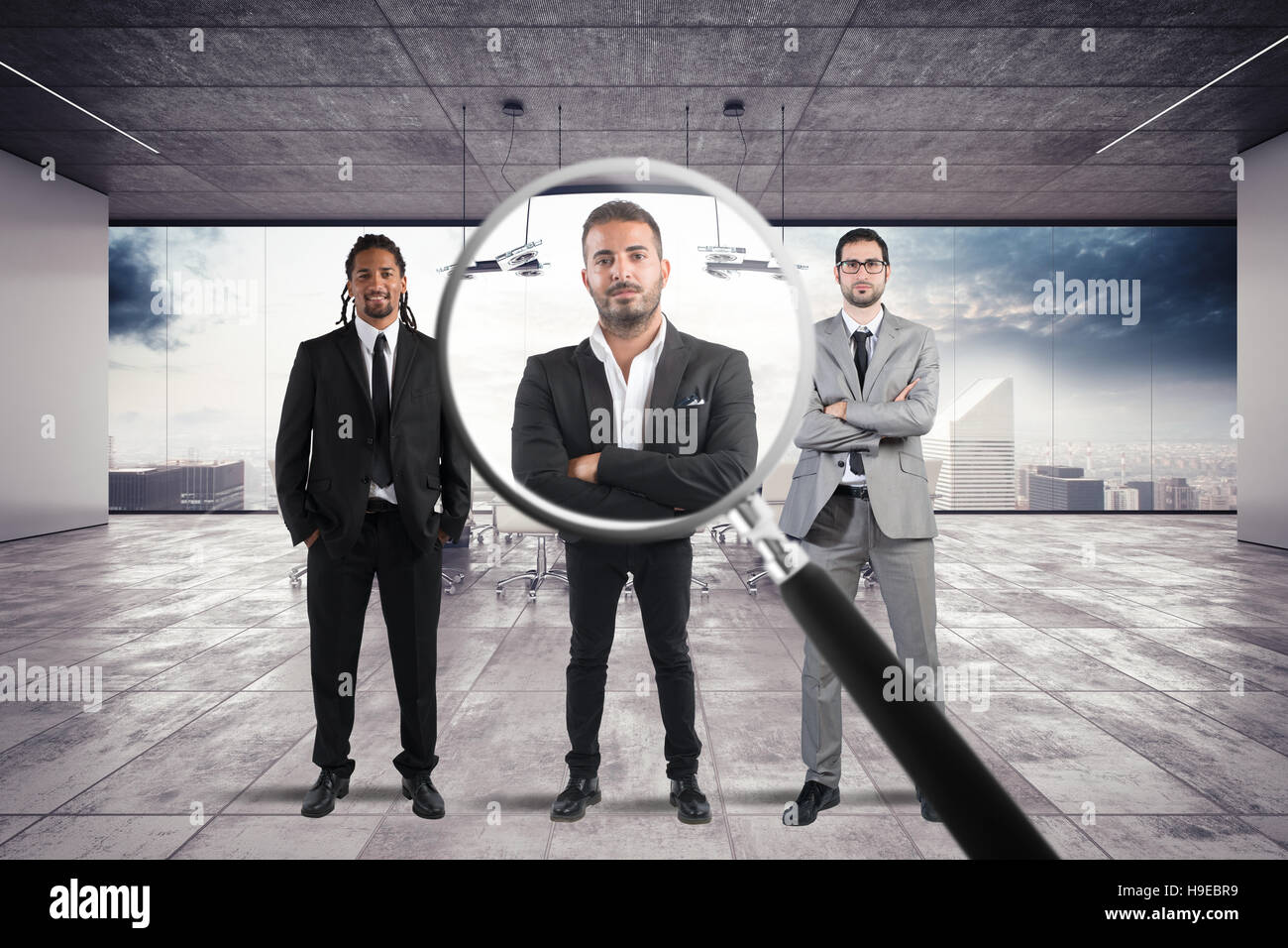 Recruitment and select candidates - Stock Image