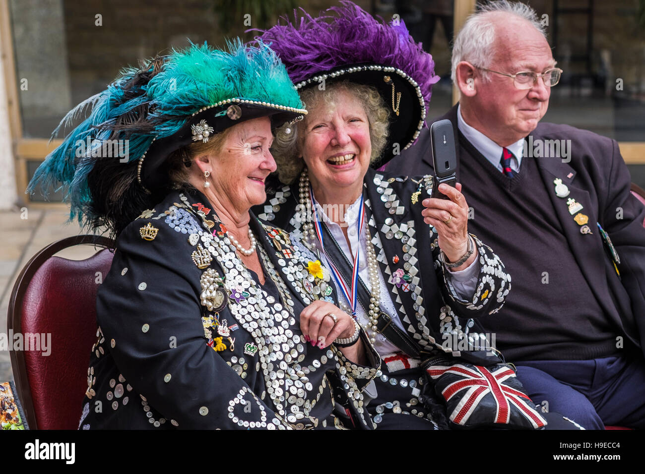 2016 Pearly Kings&Queens Harvest Festival Parade, London, England, U.K. Stock Photo