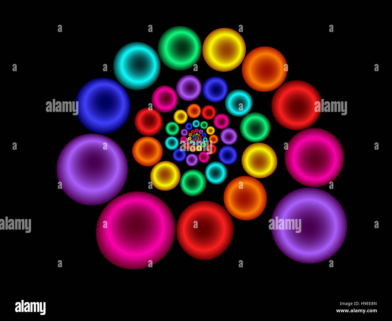 Spiraling Circle Illustration Stock Photo