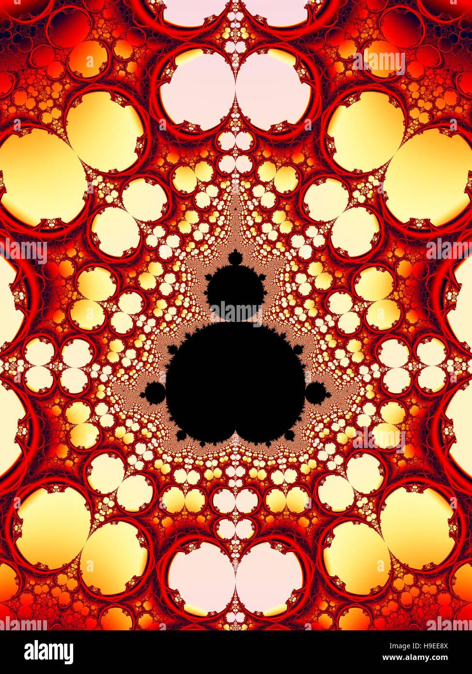 A Mandelbrot Set Fractal - Stock Image