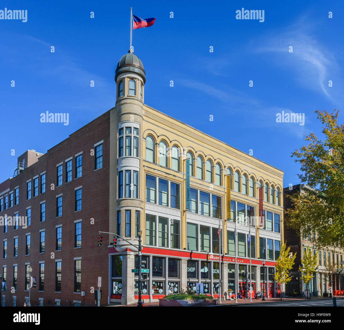 Louisville, KY, USA- Nov. 20 2016: The Frazier History Museum is located in downtown Louisville KY. The museum has - Stock Image