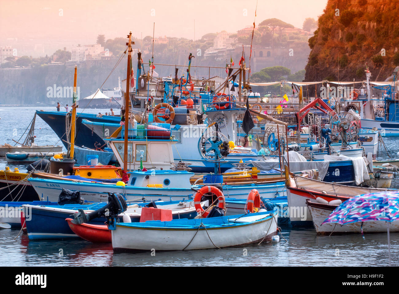 The Harbour of Sorrento, Gulf of Naples, Campania, Italy - Stock Image