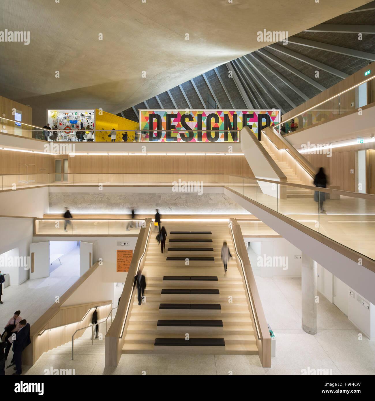 interior view of atrium design museum london united kingdom stock photo 126337257 alamy. Black Bedroom Furniture Sets. Home Design Ideas