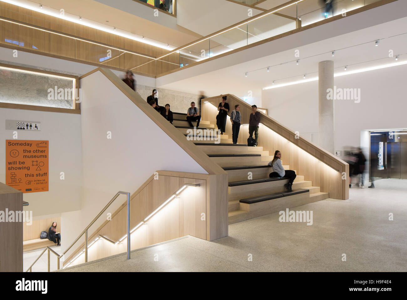 Interior View Of Atrium Stairs Design Museum London