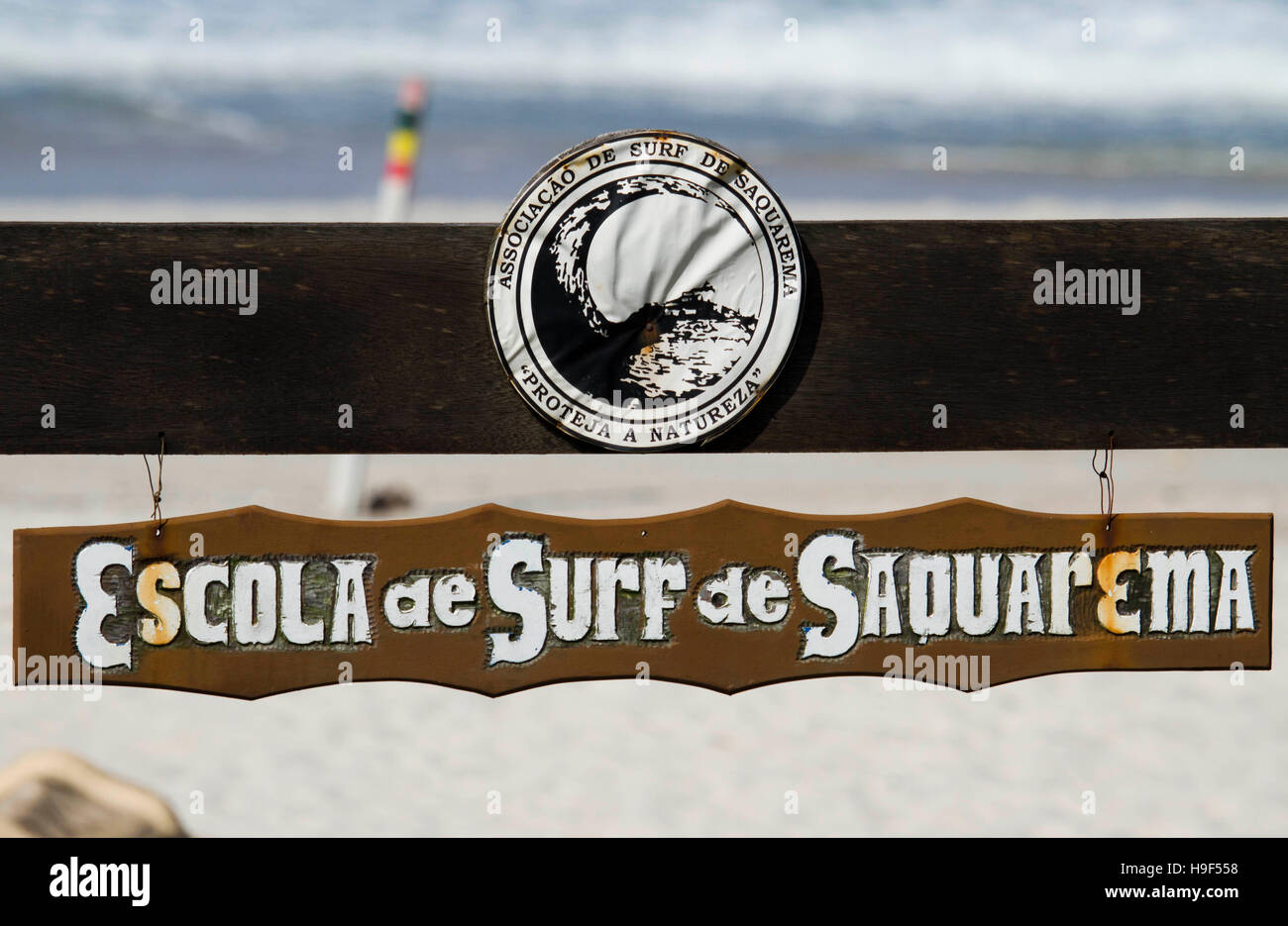 Surf school logo and sign - Stock Image