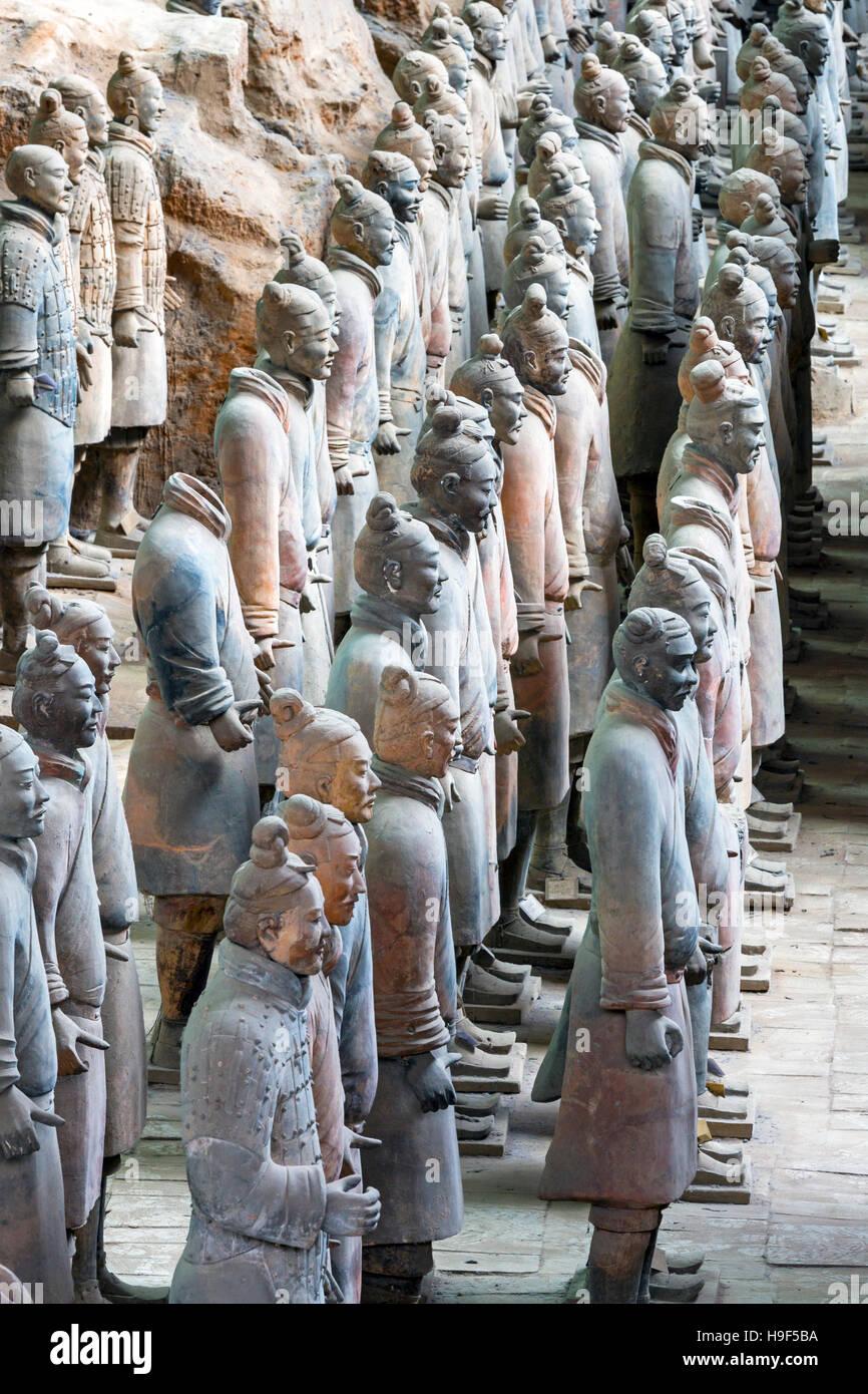Museum of Qin TerraCotta Warriors, Xian, China - Stock Image
