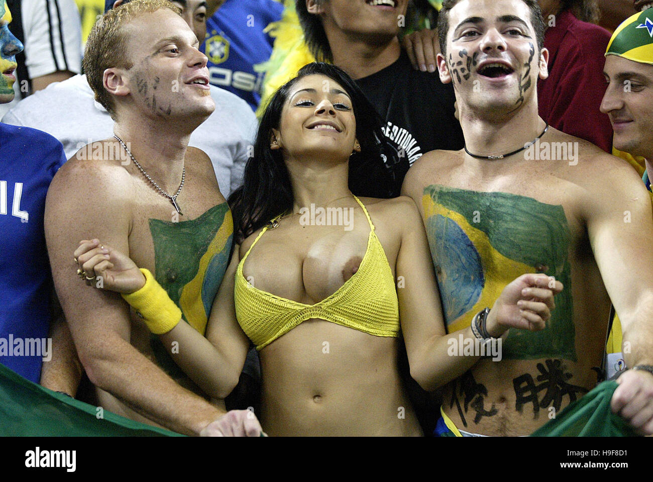 Hot Football Fans In Stadium