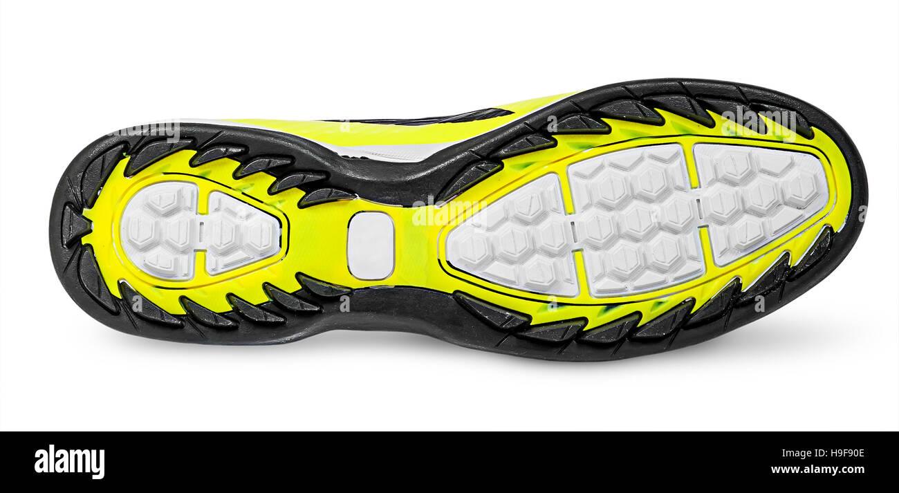 Rippled shoe sole isolated on white background Stock Photo