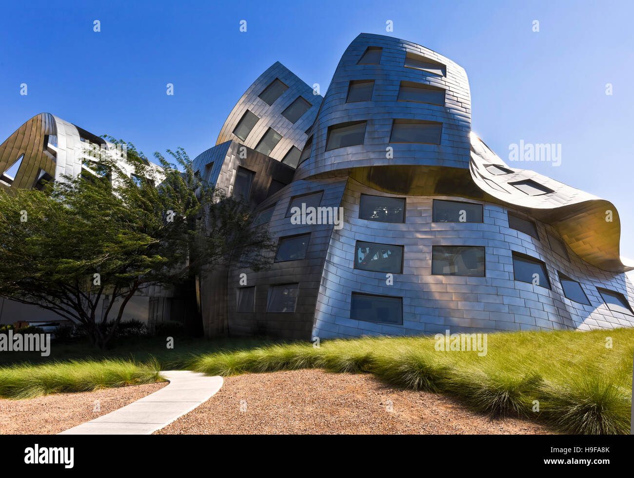 Cleveland Clinic, Lou Ruvo Center for Brain Health building exterior architecture in Las Vegas, Nevada - Stock Image
