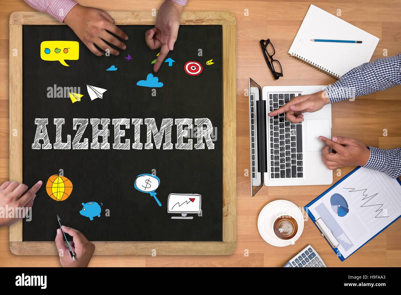 ALZHEIMER - Stock Image