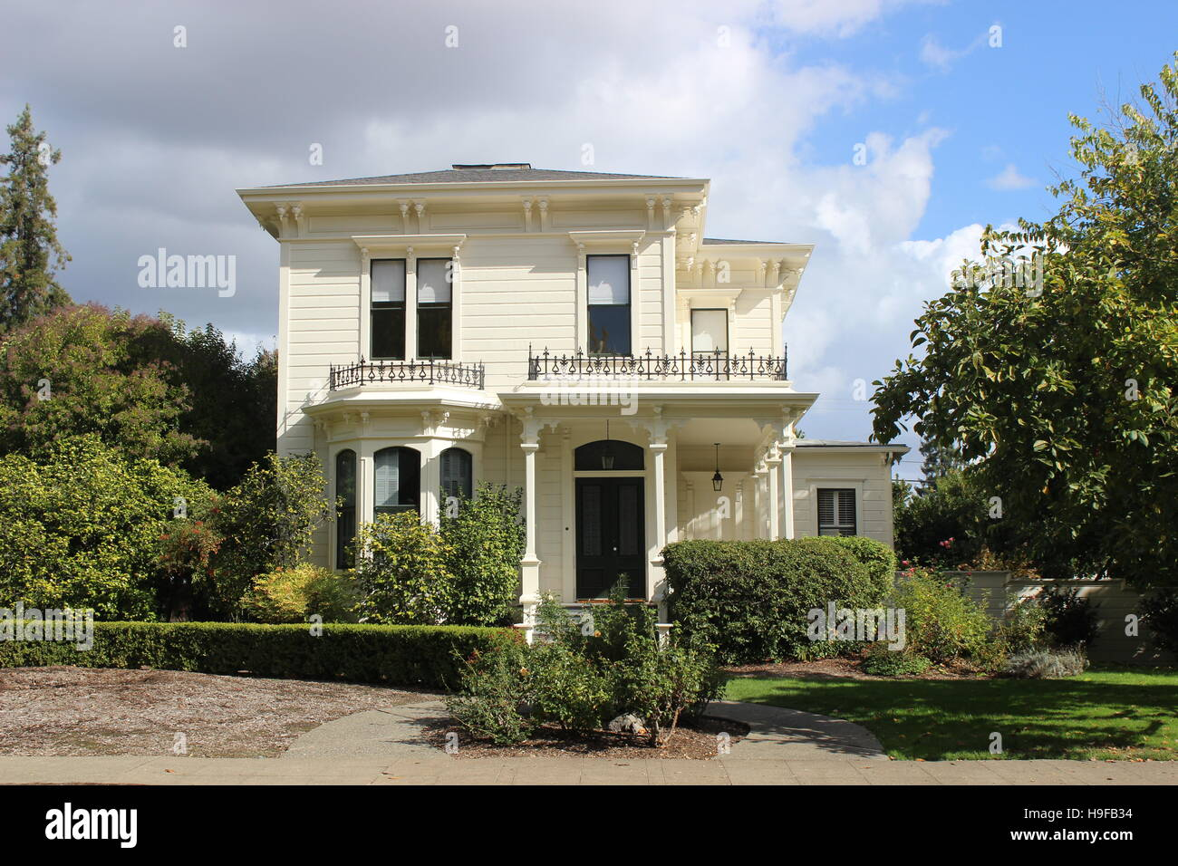 Shadow of a Doubt House, Italianate, Santa Rosa, California - Stock Image