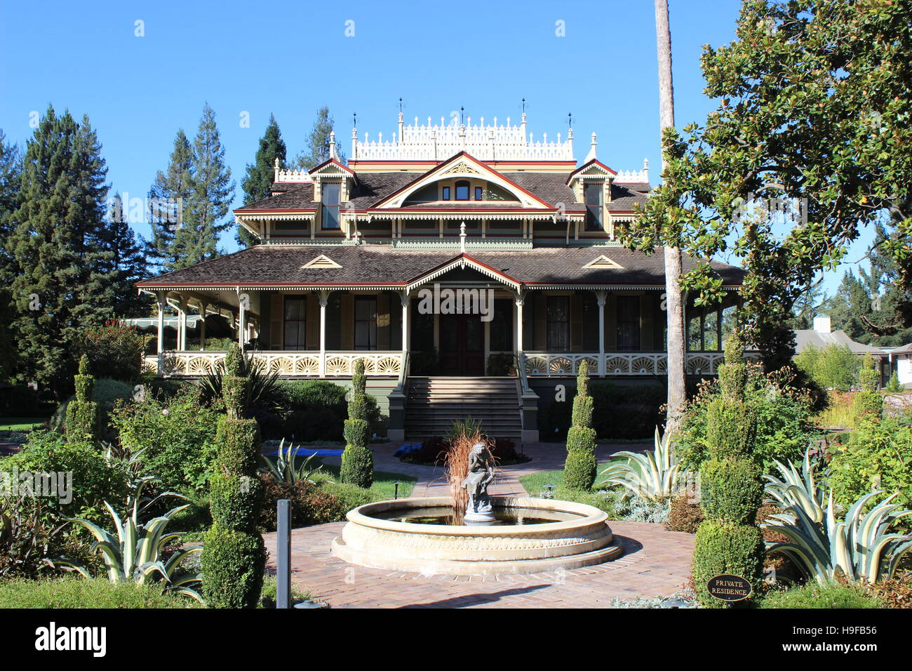 Mabelton, McDonald Mansion, Santa Rosa, California - Stock Image