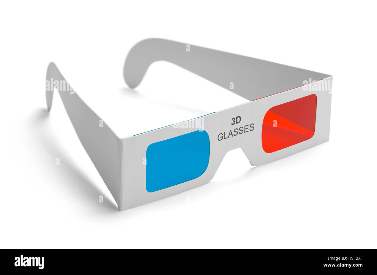 3D Movie Glasses Isolated on White Background. - Stock Image
