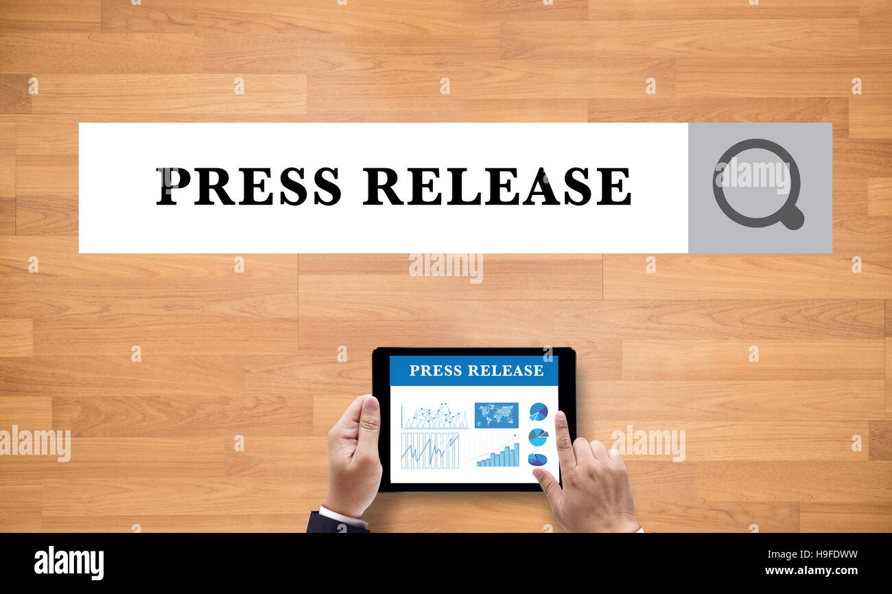 Press Release Stock Photo