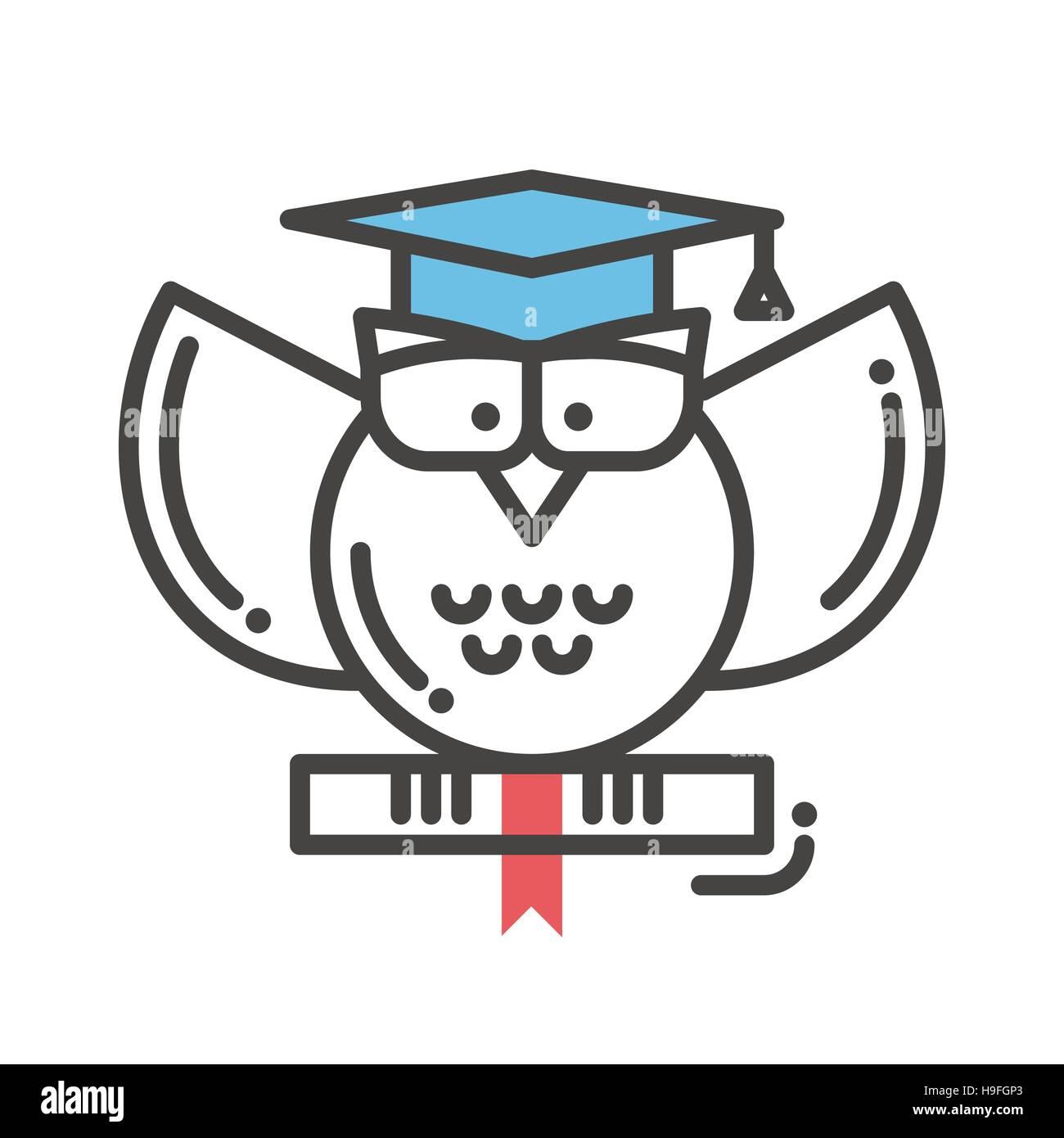 Education flat design single isolated icon - Stock Image