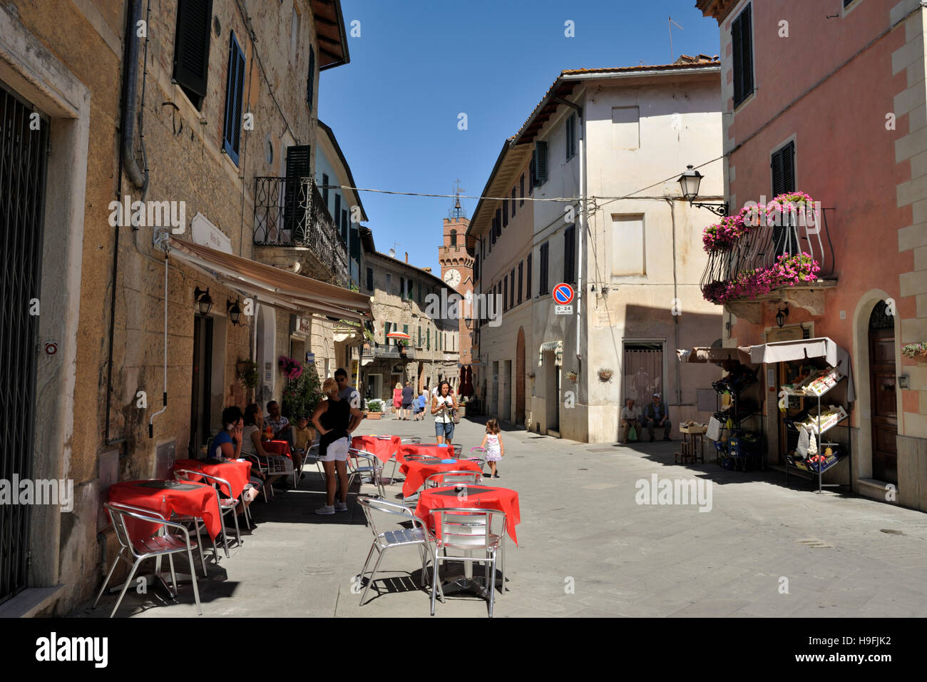 asciano, tuscany, italy Stock Photo