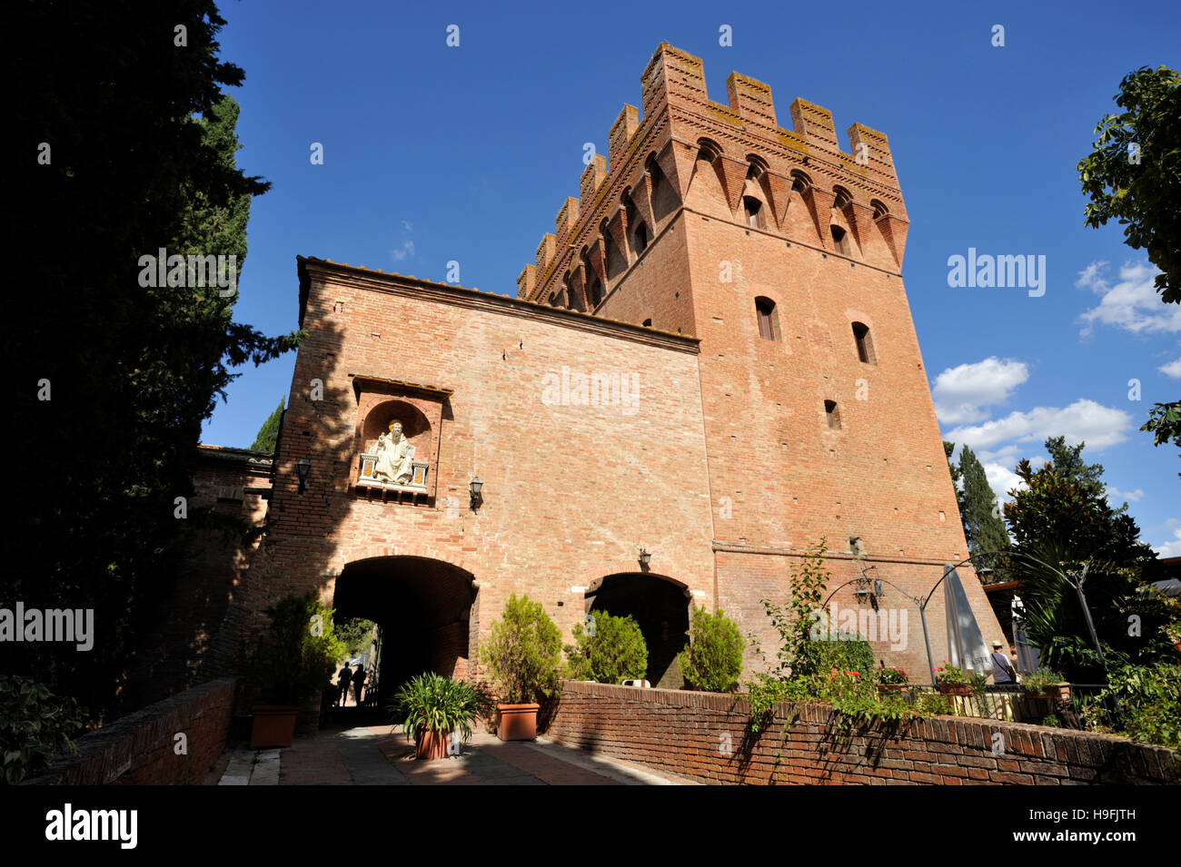 Abbey of Monte Oliveto Maggiore, tuscany, italy Stock Photo