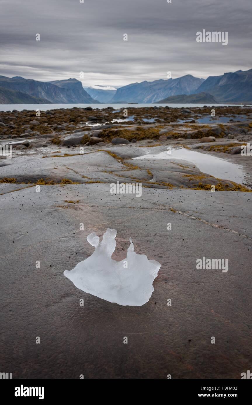 Iceberg leftover in Pangnirtung, Nunavut, Canada. 2/2 - Stock Image