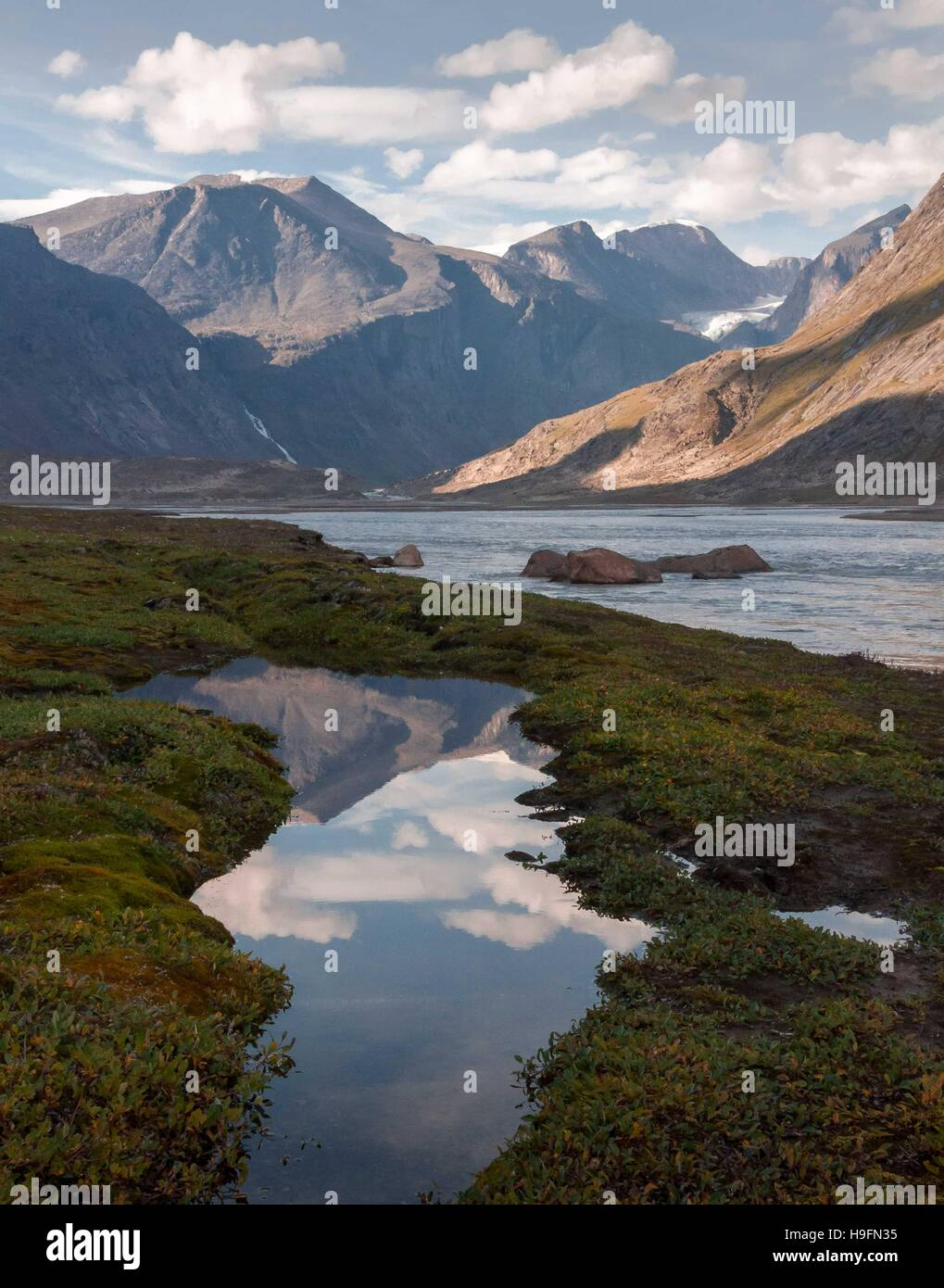 Auyuittuq National Park scenery, Nunavut, Canada. - Stock Image