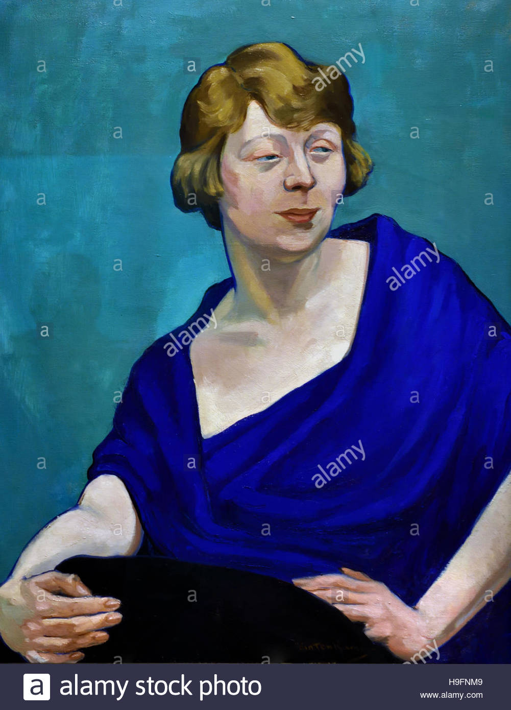 Dame Edith Evans (Dame Edith Mary Booth) (1888-1976), Actress by Henry Glintenkamp (1887-1946). Artist English - Stock Image