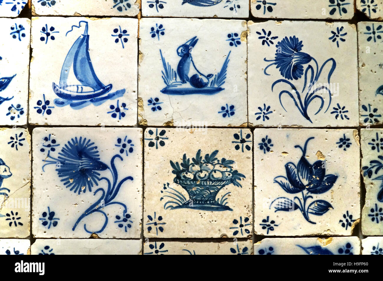 Tiles, portuguese azulejos, Portugal - Stock Image