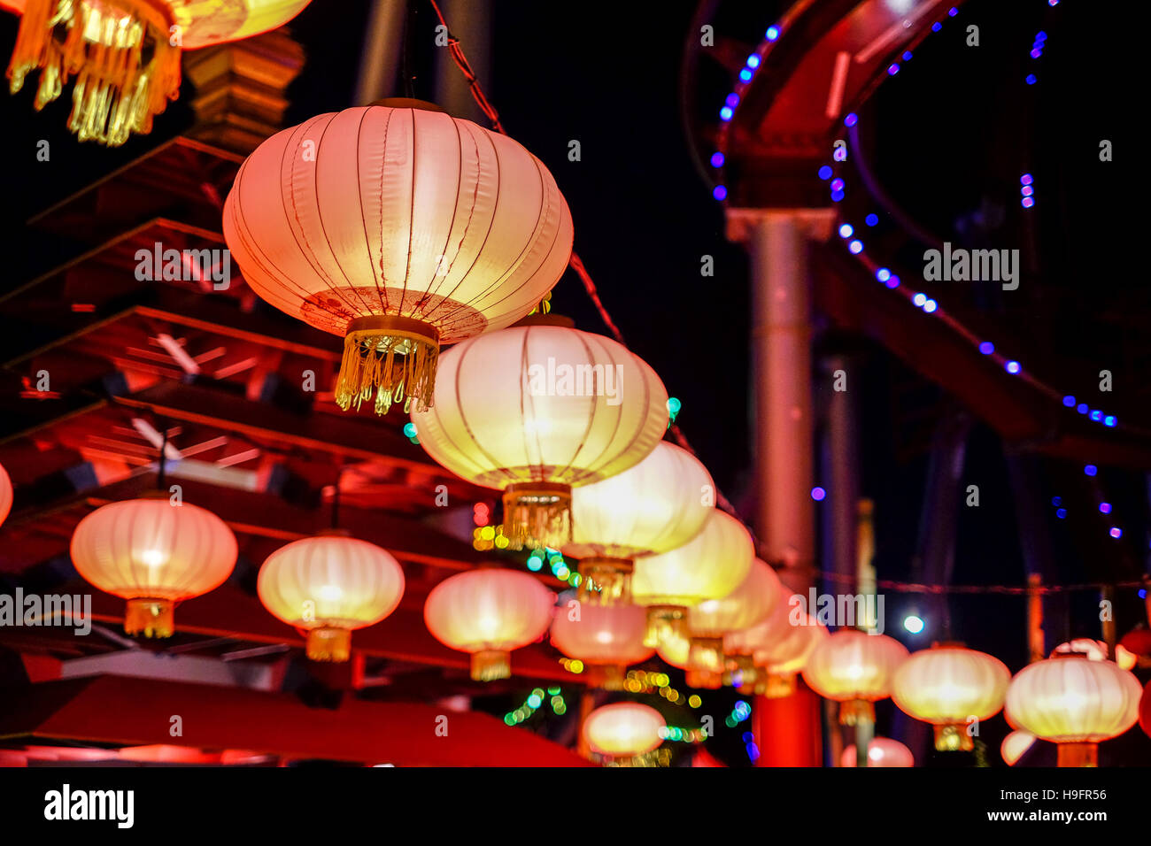 Chinese Lanterns Tivoli Garden Copenhagen Denmark Christmas Holiday Glowing  Lamp Light Lights Twinkle China Paper