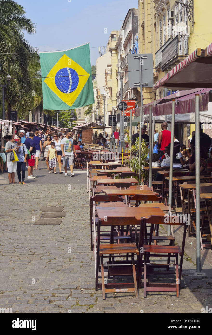 Brazil City Of Rio De Janeiro Lapa Monthly Craft And Flea Market On