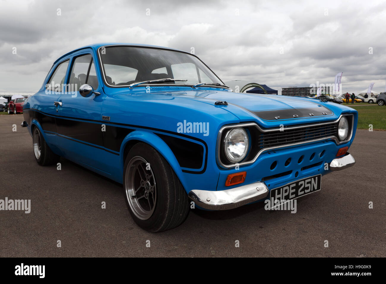 Three Quarter View Of A 1975 Ford Escort Rs2000 Mk1 In The Rs