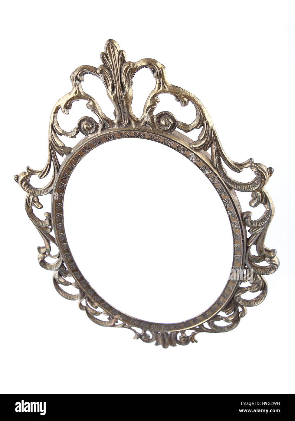 Oval Mirror White Background Stock Photos & Oval Mirror White ...