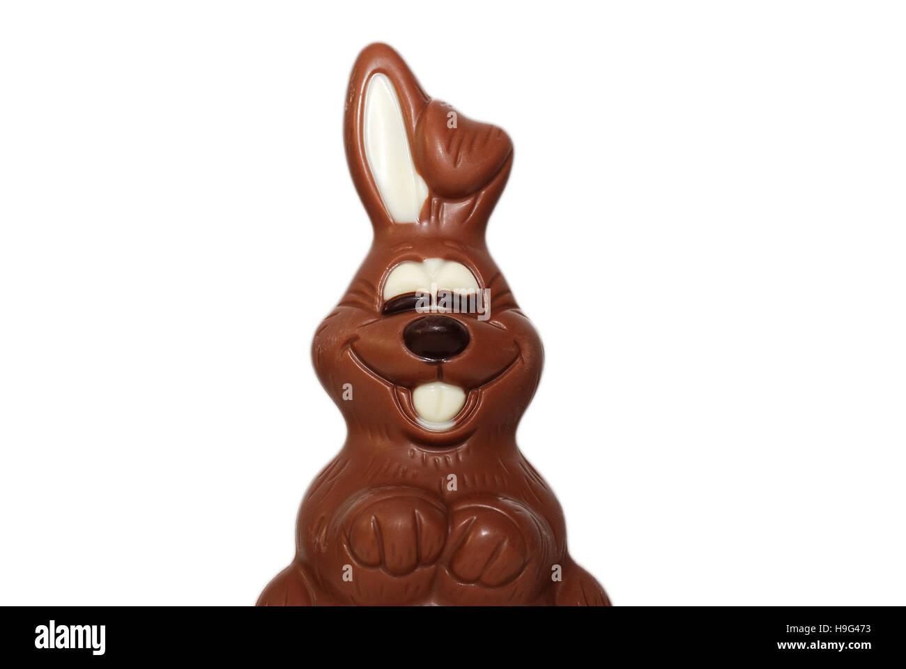 detail of chocolate bunny Stock Photo