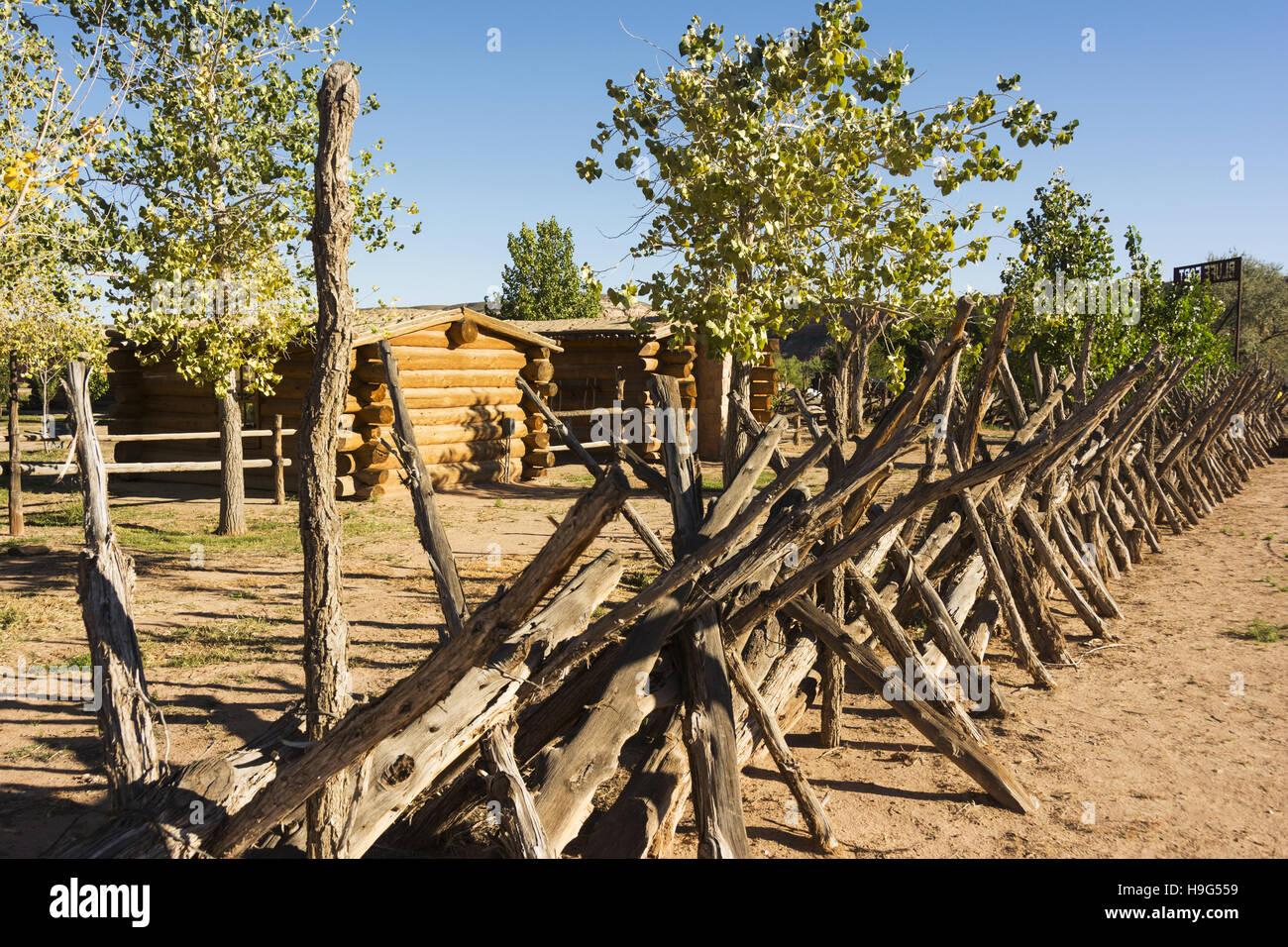 Utah, Bluff, Bluff Fort Historic Site - Stock Image
