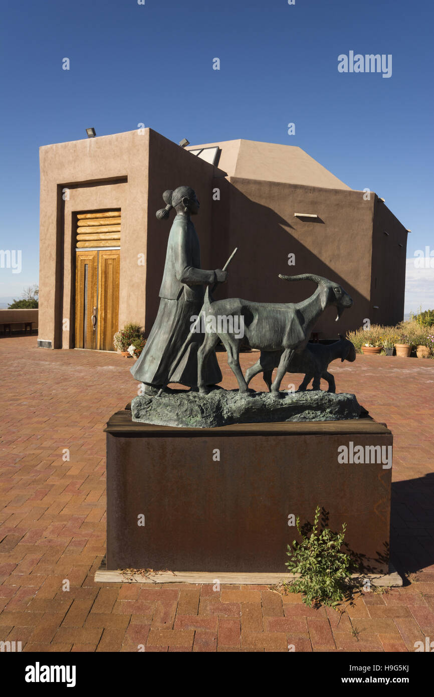 New Mexico, Santa Fe, Museum Hill, Wheelwright Museum of the American Indian - Stock Image