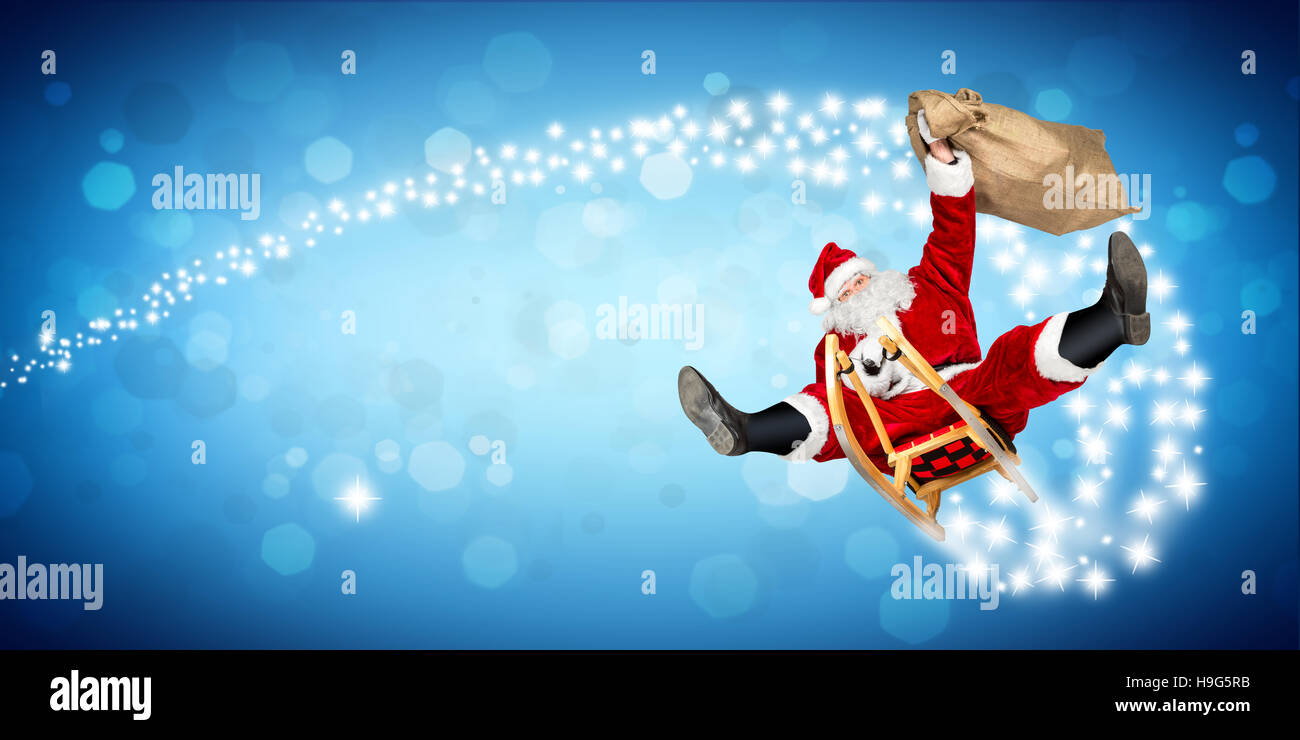 Crazy Santa Claus On His Sleigh Hilarious Fast Funny Crazy Xmas