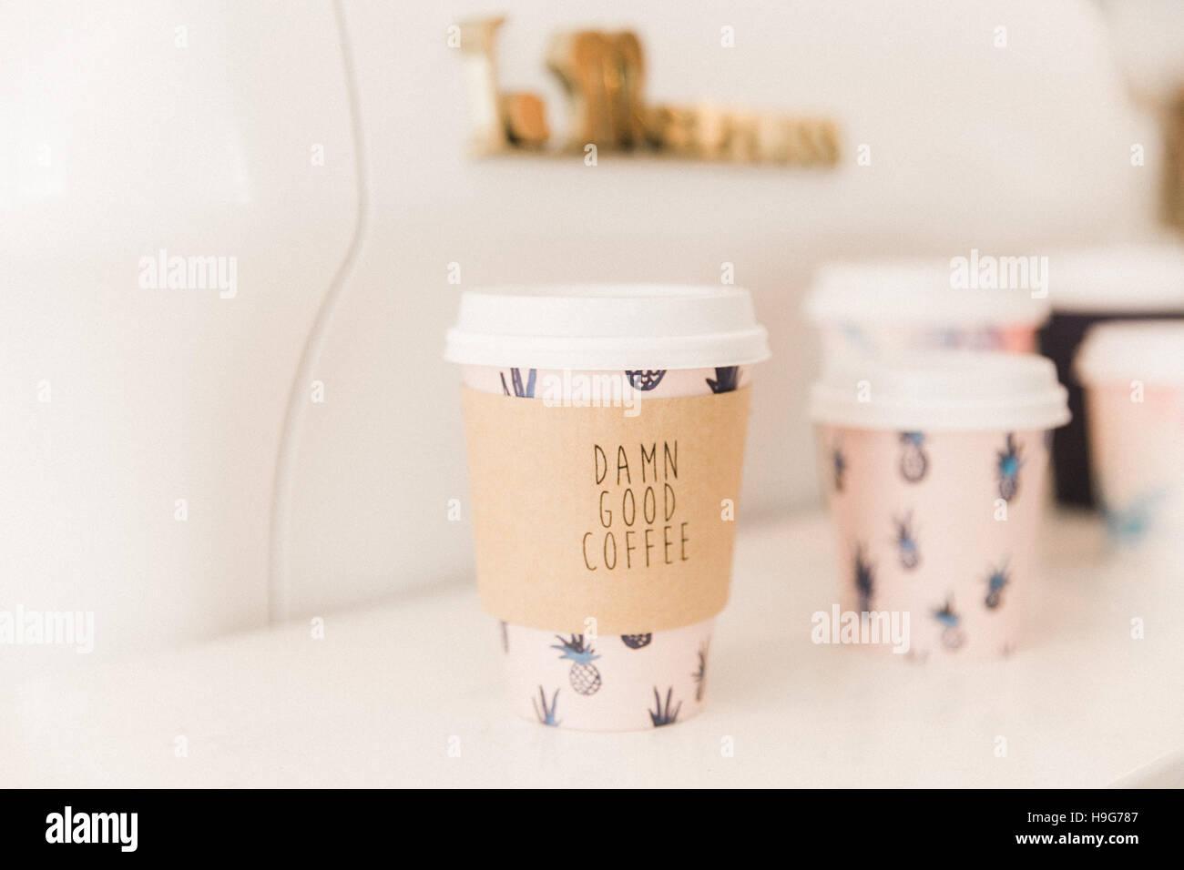 Damn good coffee - Stock Image