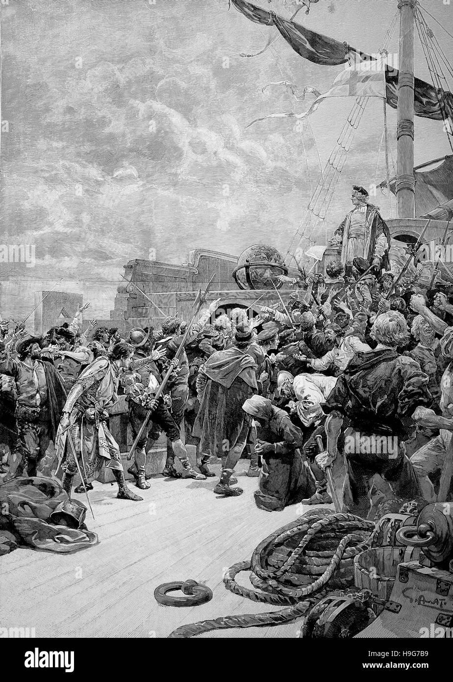 Christopher Columbus, 1451 - 20 May 1506, was an Italian explorer,  navigator,